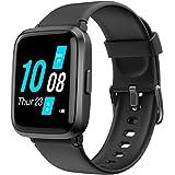 YAMAY Smartwatch con Oxímetro de Pulso Esfigmomanómetro y Pulsómetro Reloj Inteligente Impermeable para Hombre Mujer, Pulsera