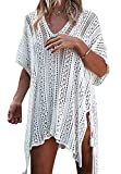 Tkiames Damen Strandkleid Bikini Cover up Sommer Bademode Stricken Beach Kleider
