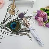 KNOSSOS Il Nero di Spazzola della Maschera per Capelli della Fibra della metropolitana di Alluminio della Maniglia di plastica della Spazzola di marmorizzazione