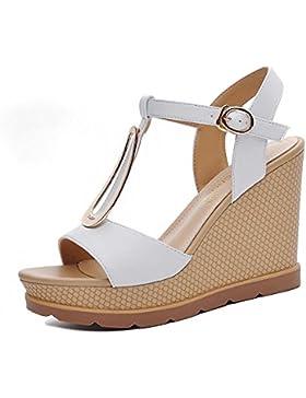 pengweiSe?oras y sandalias en zapatos de verano de moda de tacones altos , white , us5.5 / eu36 / uk3.5 / cn35