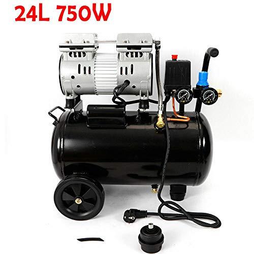 Preisvergleich Produktbild BTdahong 750W Ölfrei Luftkompressor Druckluft Mobiler Kompressor 550W Doppelmanometer Kessel Oilfree Leise Silent Geräuscharm 24L Air Compressor 1PS 8 Bar