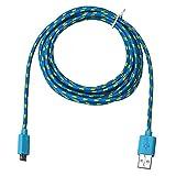 rawdah 3m/10ft cuerda de cable de carga y sincronización de datos micro USB cable...