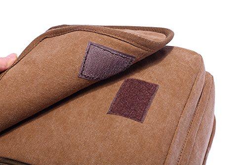 Genda 2Archer annata Multifunzione Tela Borsa a tracolla Commercio Borsa messenger ipad Bag Tote Bag Bauletto per uomini e donne (caffè) caffè
