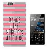 C01592 - Pink Stripes Girly Dance Like No Body Watching