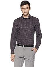 Knighthood by FBB Men's Printed Regular Fit Formal Shirt