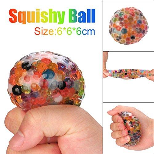 QUINTRA Spongy Regenbogen Ball Spielzeug Squeezable Stress Squishy Spielzeug Stress Relief Ball für Spaß