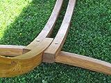 350cm XL Luxus Hängemattengestell mit Hängematte Gestell Lärche Holz mit bunter Stabhängematte ALICIA von AS-S - 5