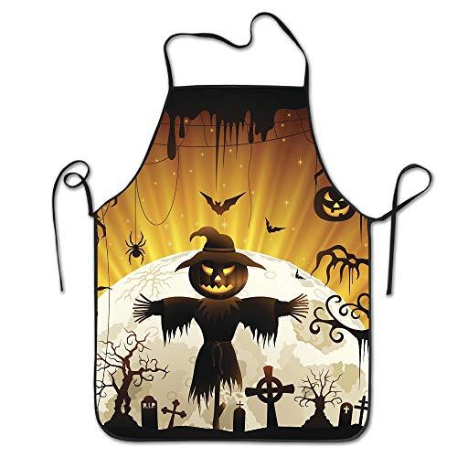 e Originalitäts-Schürze Halloween-Vogelscheuche BBQ, die Schürze für Mann-Damen-Geburtstags-Geschenke kocht ()