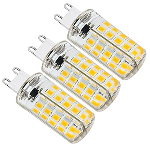 ZEEFO 3 Pack G9 LED Bulbs, 5W Dimmable 5730 SMD