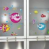 Bomeautify Wandtattoos Wandbilder Kinderzimmer Badezimmer Fliesen Glas Aufkleber Kühlschrank Klimaanlage Kleiderschrank Kabinett Schlafsaal Dekoration niedlichen Cartoon, 23 * 60CM