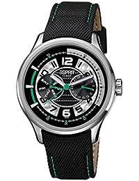 Esprit ES102851003 - Reloj analógico para caballero de cuero plateado