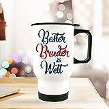 Thermobecher Isolierbecher Geschenk Bester Bruder Spruch Thermo Trinkbecher bedruckt mit Motto Zitat tb102 ilka parey wandtattoo-welt®