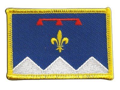 ankreich Alpes-de-Haute-Provence Fahne Patch + gratis Aufkleber, Flaggenfritze® (Provence Fahne)