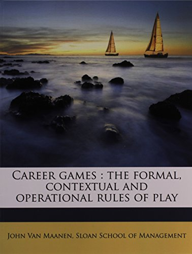 Career games: the formal, contextual and operational rules of play