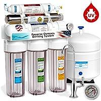 Superb EXPRESS Wasser Rouv10dcg UV Ultraviolett Sterilisator Umkehrosmose Home  Trinkwasser Filtration System, 100 GPD