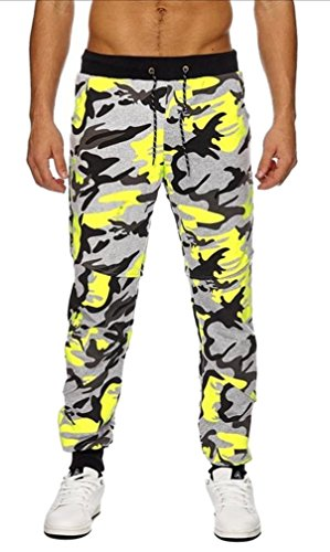 Coole Army Sommer Jogginghose, Freizeithose, camouflage H15e Camouflage Gelb