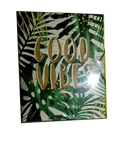 Robust und geräumig (26 x 34 x 2 cm) Einschlagmappe aus stabiler Karton, mit starkem Gummibandverschluss. Super Look: Good Vibes - 34 Vibe