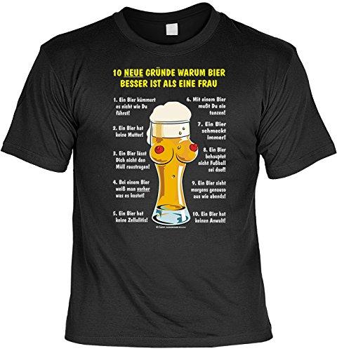 T-Shirt - 10 Gründe warum Bier besser ist als eine Frau - lustiges Karneval Shirt ideal als Geschenk für (Kostüme 2 Sa Alternative)