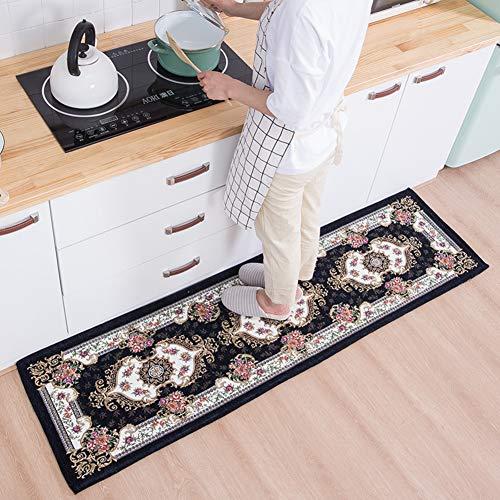 XUEKEKEAO Küchenteppich,Nicht-Slip Küchenmatte Satz Dekorative Badezimmer Teppich Küche Floor Matten Badematte Badvorleger Mit Rubber Backing-g 16x24inch+20x94inch - Größter Bad-beleuchtung