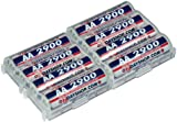 """7dayshop AA Ni-Mh High Performance Rechargeable Batteries 2900 - 8 Pack """"2x4"""""""