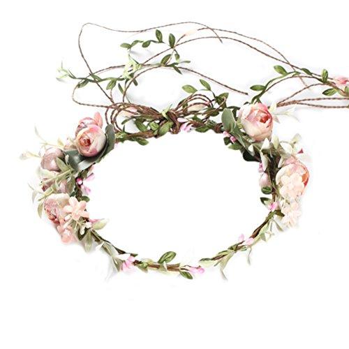 OULII Femmes Filles Fleur Bandeau De Mariage Bridal Cheveux Couronne Floral Head Band pour Fête De Mariage Festival