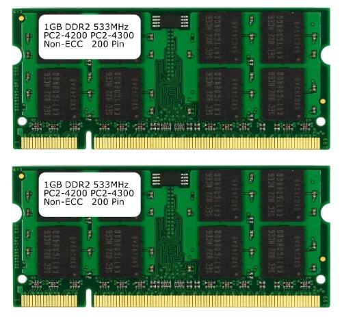 Samsung 3rd 2GB (2x 1GB) DDR2 PC2-4200 PC2-4300 533MHZ SODIMM (200 Pin) Laptop-Speicher