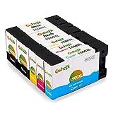 Gohepi PGI-1500XL Kompatibel für Druckerpatronen Canon PGI-1500XL, 2 Schwarz/Blau/Rot/Gelb 5er-Pack Arbeit mit Canon Maxify MB2350 MB2050 MB2300 MB2000 MB2150 MB2755 MB2155 MB2750 Patronen
