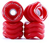 Shark Wheel California Rolls Skateboard Wheels 60mm, 78a - Red by Shark Wheel
