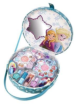 Disney Frozen Grandes maletín con asa y diseño de Frozen (Contiene kindgerechte Maquillaje para ojos y labios, esmalte de uñas, anillos), regalo para chica por Markwins