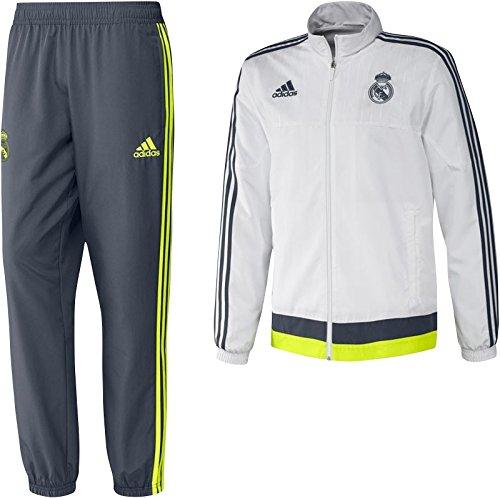 adidas Herren-Jogginganzug, Real Madrid XS Blanco/Gris/Lima