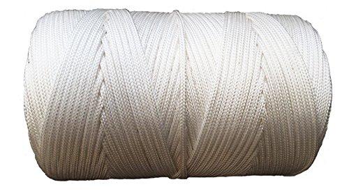 Nylon geflochtenen Seil Twine Paracord 3mm oder 4mm Breite erhältlich–Verkauft in 5m Längen Sie Farbe: rot, gelb, blau, grün, lila, weiß & schwarz - 2 Nylon-seil 1