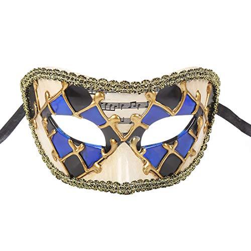 TAAMBAB Venezianische Maske Im Klassischen Stil Mens Woman Kostüme Mardi Gras Mask Partei Maskerade Maske Griechisch Römische Halloween Maske Karneval Maske für Hochzeitsfeier Kostümzubehör (Phantom Kostüm Frauen Der Oper)