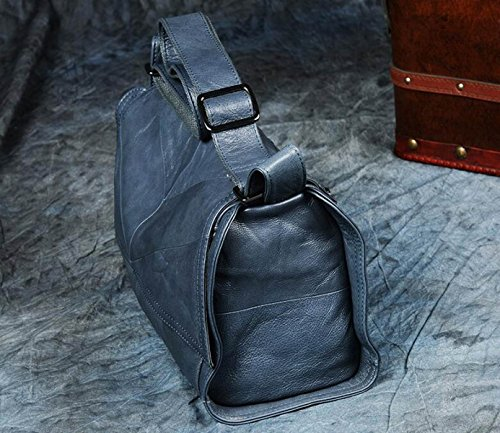 Umhängetaschen Der Frauen Retro- Rindleder-große Kapazitäts-Damen Die Beiläufige Beutel-Dame Business Travel Handtasche Blue