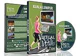 Marches Virtuelles - Kuala Lumpur pour exercices d'intérieur : tapis roulant ou vélo d'appartement