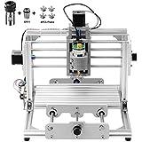 Beautystar CNC DIY Router Engraving Machine, Working Area 240*170*65mm, PCB Milling Machine CNC Wood Metal Carving Mini Engraving Router PVC+C16-ER11-35L 5MM Extension Rod+ER11Chuck 5mm