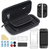 iAmer 11 in 1 Zubeh�r f�r Nintendo Switch, Nintendo Switch Tasche+Transparent H�lle +3 Displayschutzfolie+Silikon Joy-Con Tasche+Game Card Tasche Bild