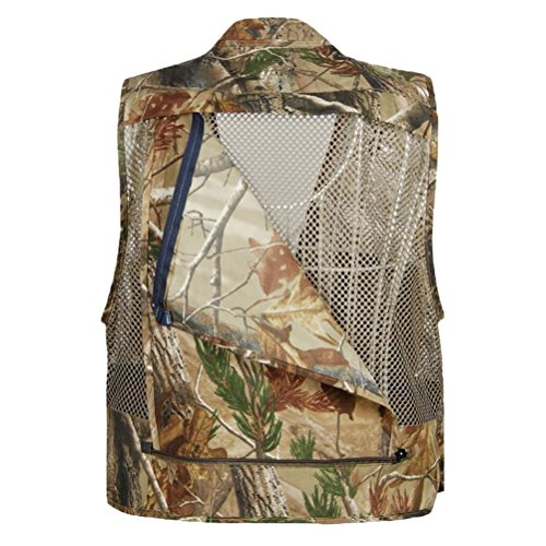 Zhhlinyuan pratique Outdoor Summer Hollow Out Thin Multi-pocketed Vest Multifunction Mesh gray