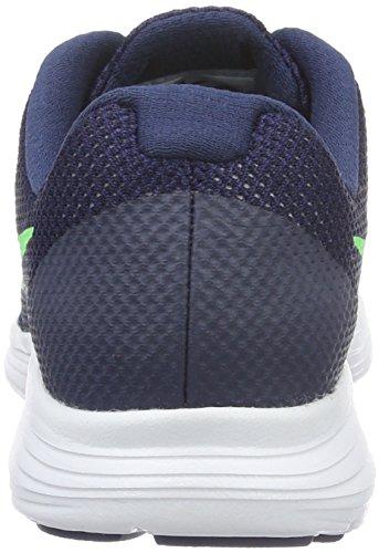 Nike Jungen Revolution 3 Laufschuhe Blau (Deep Royal Blue/Vltg Green-Wht)