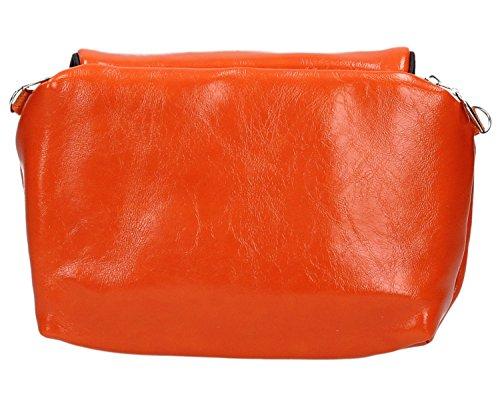 District29 - Borsa a tracolla donna Arancione (arancione)