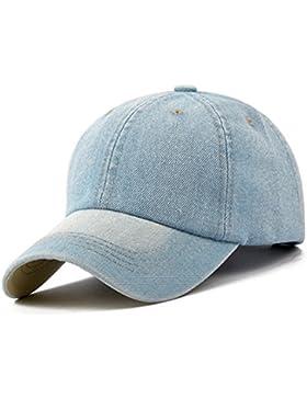 KeepSa Gorra de béisbol Hombres Mujeres Gorras Snapback sombreros vaqueros Denim Blanco hueso visera Gorras Casquette...