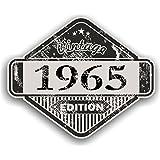 Distressed envejecido Vintage 1965Edition Classic Retro vinilo coche moto Cafe Racer Casco Adhesivo Insignia 85x 70mm