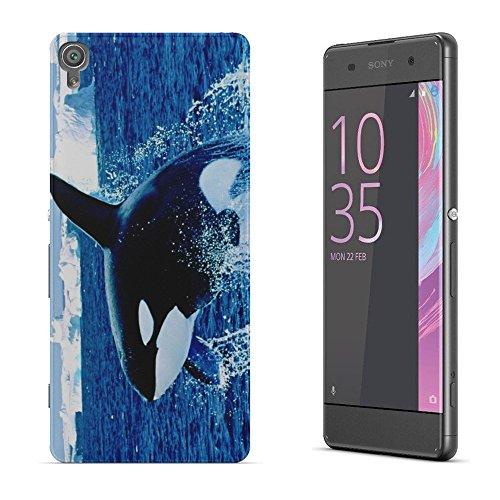 Leben im Meer 146, Springen Orca, Das Kristallklare Ultradünn Gel Crystal Silikon Handyhülle Schutzhülle Handyschale mit Farbig Design für SONY XPERIA XA