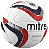 Mitre Ultimax FuÃ?Ball Weiß White/Navy/Red/FIFA App 5