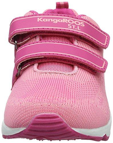 KangaROOS Kanga S, chaussons d'intérieur fille Pink (Rose/Magenta)