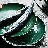 SLW Grüner Obstsalat Dip Bowl Große Keramik Pasta Schüssel Geschirr Japanische Ramen Nudel servieren Kitchenaid Schüssel Durchmesser: 22 cm,1 Stück