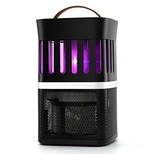 HWF Lampe anti-moustique Moustique Lampe Ménage Silencieux Femmes Enceintes Mosquito Lumière Intérieur Moustiquaire Piège ( Couleur : Noir )