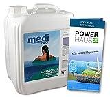Algenschutz schaumfrei - 5L - perfekt für Whirlpools und Pools mit Gegenstromanlagen - mit POWERHAUS24 Pflegefibel