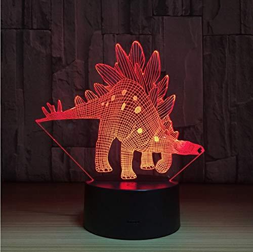 Dinosaurier 3d lampe 7 farbe led nachtlampen für kinder touch usb tischlampe baby schlaf nachtlicht zimmer lampe (Licht Wars Star Lichtschwert-zimmer)
