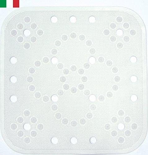 ! CENNI 84326 Tappeto Antiscivolo Doccia Lux 55 x 55 in Gomma, Bianco, Made in Italy confronta il prezzo online