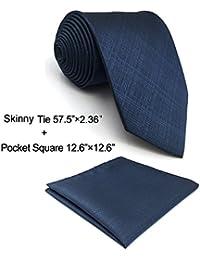 shlax&wing Classic Rayas Corbatas Para Hombre Ties Gris Verde Traje de negocios Suit Jacquard Weave